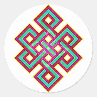 Noeud éternel bouddhiste sticker rond