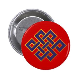 Noeud éternel de bouddhisme bleu de karma de badge