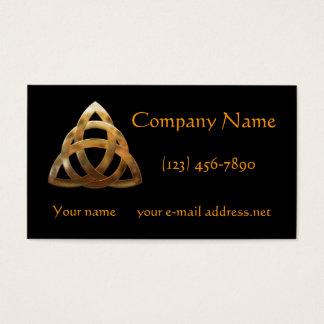 Noeud moderne de trinité d'or cartes de visite