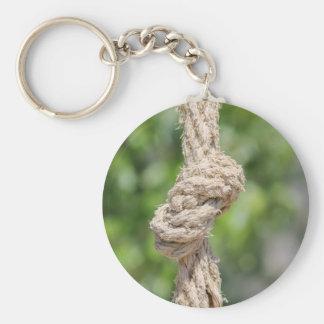noeud sur la corde porte-clé rond