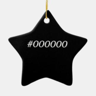 Noir #000000 ornement étoile en céramique