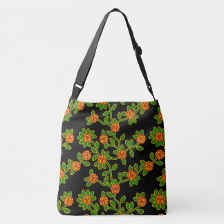 Noir #1 floral de grand sac fourre-tout