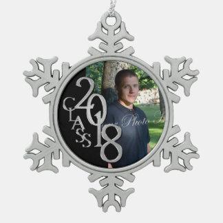 Noir 2018 et photo licenciée d'argent ornement flocon de neige