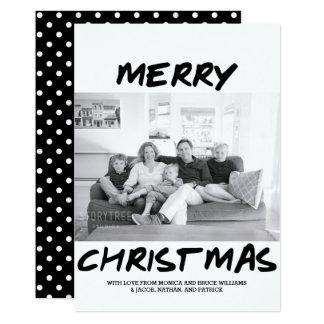 Noir à la mode du carte photo | de Joyeux Noël