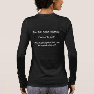 Noir américain des dames LS d'habillement T-shirt À Manches Longues