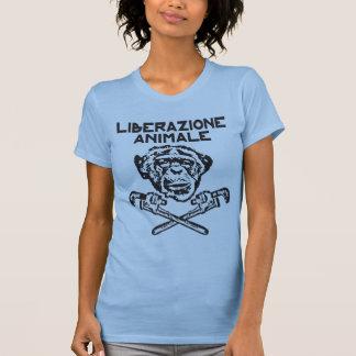 Noir animal Italiano de T-shirt de libération