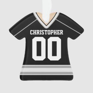 Noir/argent/hockey fait sur commande blanc Jersey