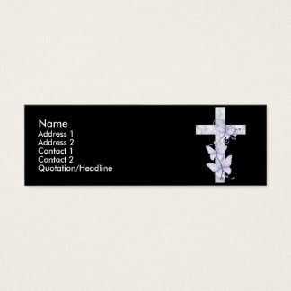 Noir avec la carte bleue de profil de croix et de