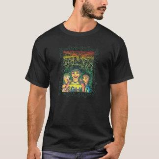 Noir avec le motif décoratif t-shirt