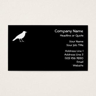 Noir avec une corneille blanche cartes de visite
