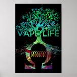 Noir BG d'affiche de la vie de Vape