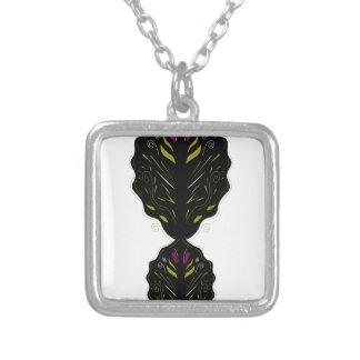 Noir blanc de mandalas orientaux de luxe pendentif carré
