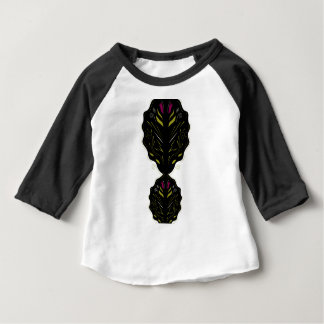 Noir blanc de mandalas orientaux de luxe t-shirt pour bébé