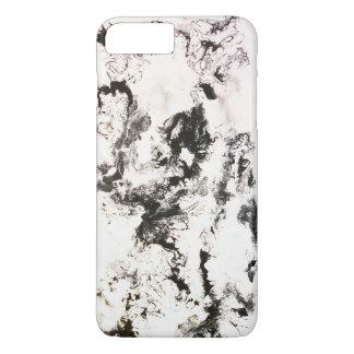 Noir, blanc et argent coque iPhone 7 plus