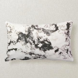Noir, blanc et argent coussin décoratif