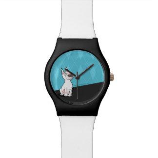 Noir/blanc mignons de montre de bande dessinée de