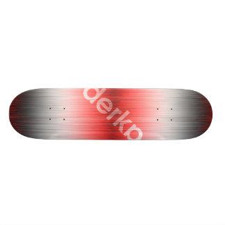 Noir blanc rouge de gradient de Derka Skateboards