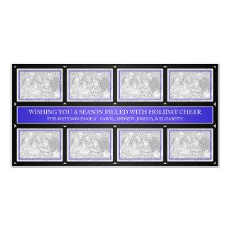 Noir bleu de collage de cadre de Noël Cartes De Vœux Avec Photo