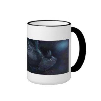 Noir bleu de Raven tasse de café de sonnerie de 15