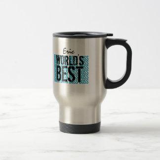 Noir bleu G453 de inscription grunge du meilleur p Mug De Voyage En Acier Inoxydable