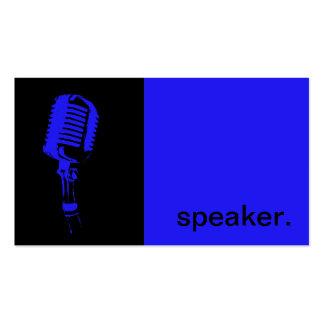 Noir bleu moderne du haut-parleur | de silhouette carte de visite standard