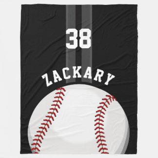 Noir brillant de base-ball couverture polaire