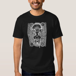 Noir Camiseta de T-shirt d'Azteca