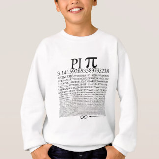 Noir carré de pi sweatshirt