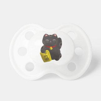 Noir chanceux de chat tétine pour bébé
