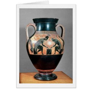 Noir-chiffre amphora dépeignant Ajax et Achille, Cartes