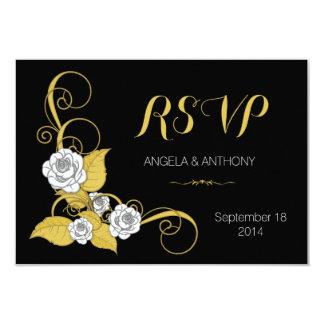 Noir d'argent d'or de rose blanc épousant la bristols personnalisés
