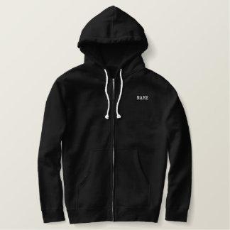 Noir de base de sweat - shirt à capuche de sweat-shirt thermal brodé