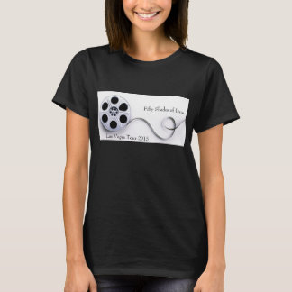 Noir de base de T-shirt du coton des femmes