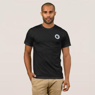 Noir de base du T-shirt des hommes de marais