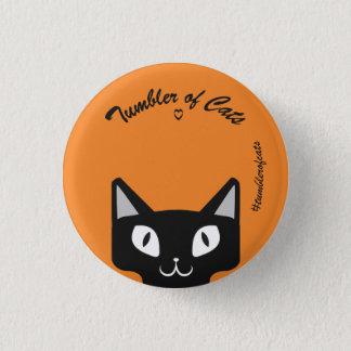 Noir de bouton de TumblerofCats sur TumblerCat Badge