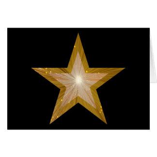 Noir de carte de voeux de ton de l'étoile deux