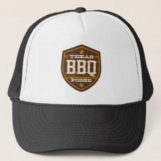 Noir de casquette de camionneur - bande de BBQ du