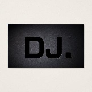 Noir de cool de caractères gras du DJ moderne Cartes De Visite