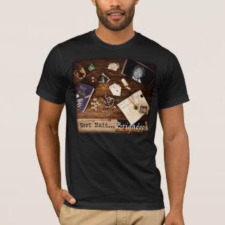 Noir de couverture d'album t-shirt