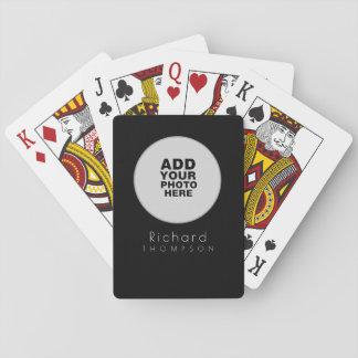 noir de custom_photo de cercle cartes à jouer
