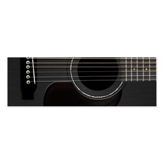 Noir de guitare acoustique carte de visite petit format