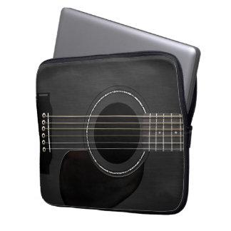 Noir de guitare trousse pour ordinateur portable