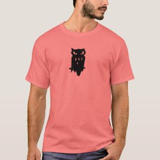 Noir de hibou de prêt de huée d'équipe t-shirt