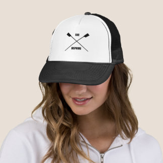 Noir de inspiration d'avirons croisé par slogan casquette