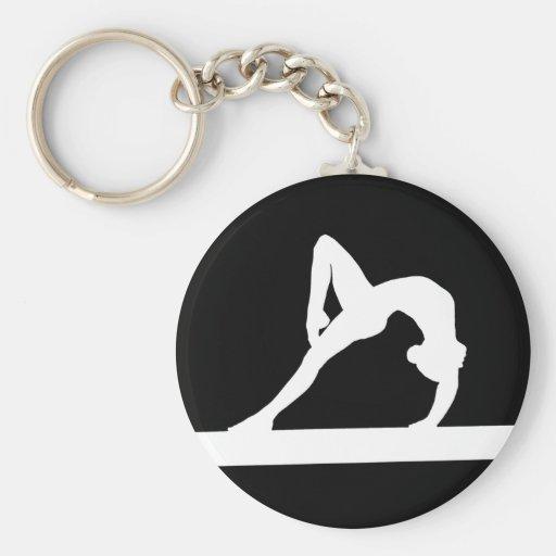 Noir de Keychain de silhouette de gymnaste Porte-clé