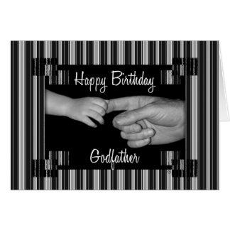Noir de l'anniversaire du parrain avec des filets cartes