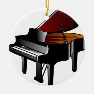 noir de lustre de piano ornement rond en céramique