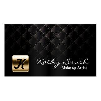 Noir de luxe et or de maquilleur élégants carte de visite standard