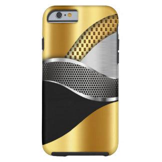 Noir de maille d'argent d'or de voiture de sport coque iPhone 6 tough