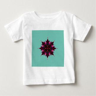 Noir de mandala sur l'Orient cyan T-shirt Pour Bébé